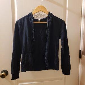 Gap black zip hoodie